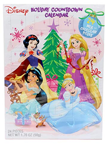 2018 Disney Princess Milk Chocolate Christmas Advent Countdown Calendar, 1.76 oz