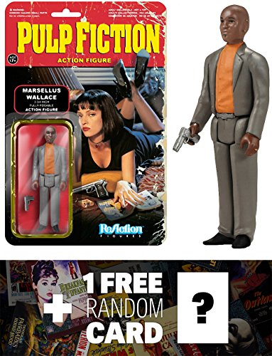 Marcellus Wallace: Funko ReAction x Pulp Fiction Action Figure + 1 FREE Classic Movie Trading Card Bundle (041540)