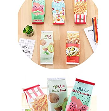 macaron,chocolate,biscuit King/&Pig 3pcs Novelty Funny Snacks PU Pencil Cases Stationery Storage Organizer Bags School Office Supplies