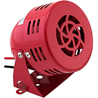 Vixen Horns Loud Electric Motor Driven Horn/Alarm/Siren (Air Raid) Small/Compact Red 12V VXS-9050C