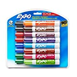 Expo 81045 Low-Odor Dry Erase Markers, Chisel Tip, Assorted Colors, 2 Blister Packs with 16 Markers, Total of 32 Markers