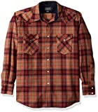 Pendleton Men's Long Sleeve Button Front Classic-Fit Canyon Shirt, Sunset Plaid, LG