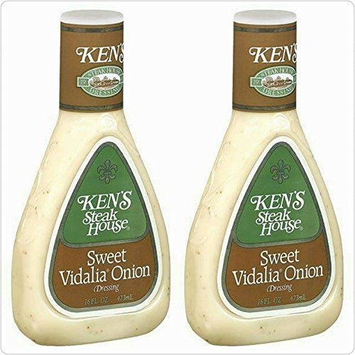 (Ken's Steak House Sweet Vidalia Onion Dressing 16oz Bottle (Pack of 2))