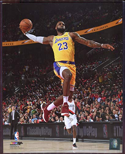 Officially Licensed LeBron James Los Angeles Lakers Windmill Dunk 8x10 Photo with Toploader
