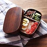 miyare(ミヤレ)  曲げわっぱ 小判形弁当箱 和風の木製弁当 漆塗り軽量タイプ 環境保護 クリエイティブ 木製カトラリー 寿司弁当 食器
