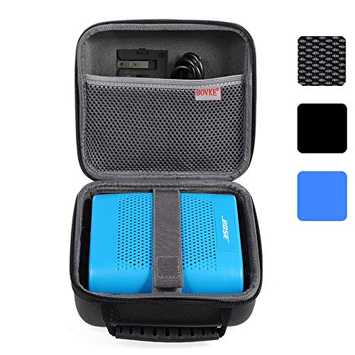 BOVKE for Bose Soundlink Color II/UE ROLL 360 Wireless Bluetooth Speaker Hard EVA Shockproof Carrying Case Storage Travel Case Bag Protective Pouch Box, Black