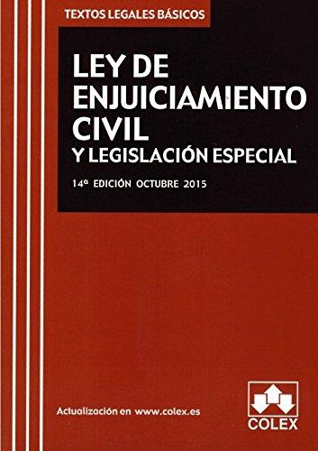 Descargar Libro Ley De Enjuiciamiento Civil Y Lesgislación Especial 14ª Ed. Octubre 2015 Aa.vv