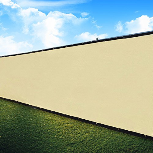 Ecover Pro Security & Privacy Windscreen,Tan, 4x10FT with Grommets & Zip Ties for Quick Installation,Heavy Duty Privacy Fence for Garden Yard, Commercial Construction Site, Deck, Balcony Pool by Ecover