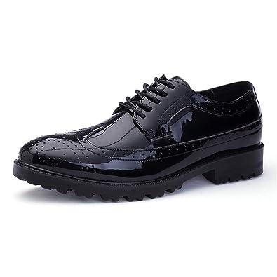 XIANGBAO-Personality - Zapatos de Vestir para Hombre de Piel ...