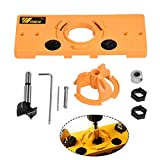 Hinge Drilling Jig,35MM Cup Style Hinge Boring Jig Drill Guide Set Door Hole Template For Kreg Tool