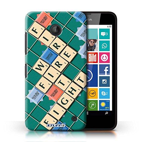 Kobalt® Imprimé Etui / Coque pour Nokia Lumia 635 / Lutte Incendie conception / Série Mots de Scrabble