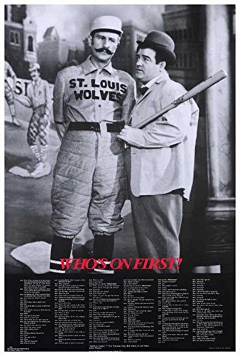 Abbott & Costello - Who's On First Movie POSTER 27 x 40 Bud Abbott and Lou Costello, A, MADE IN THE U.S.A.
