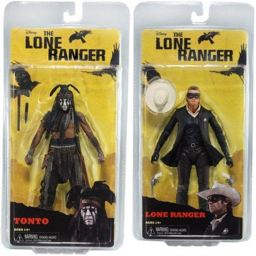 "Lone Ranger Series 1 7"" Action Figure Set of 2"
