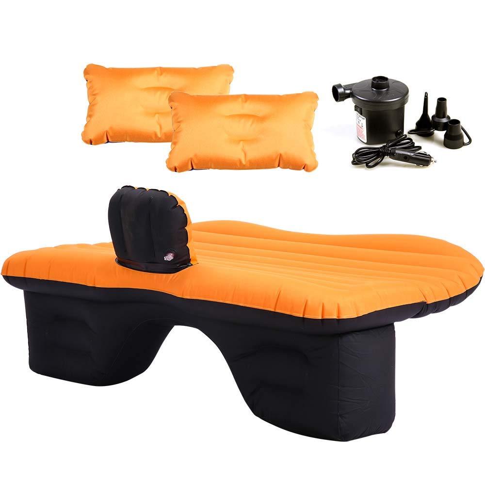 Auto Luftmatratze Aufblasbare, Matratze Airbed Dickere Luftbett Für Tourismus Outdoor Camping Travel, Mit Kissen, Surface Oxford,Orange