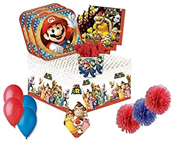 Irpot Kit N.49 - F Fiesta DE CUMPLEAÑOS Super Mario: Amazon ...