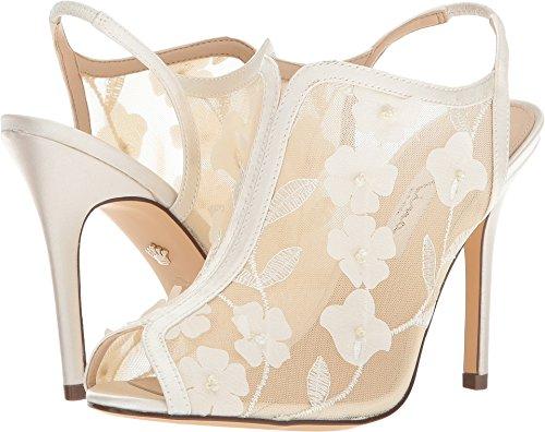 Nina Peep Toe Heels (Nina Women's Meggin Ivory Floral Mesh 8 M US)