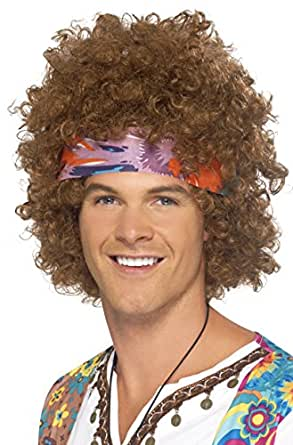 Amazon.com: Smiffy s Hippy Afro peluca, talla única ...