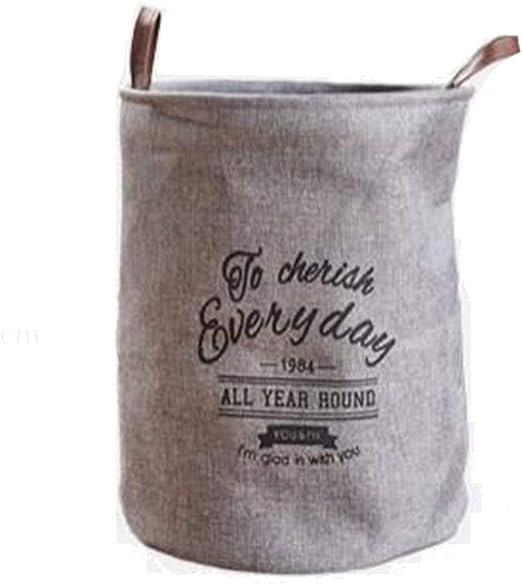 ZHML-snl Bolsa de lavandería de Lino de algodón Grande Impermeable ...