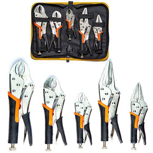 KOTTO 5 Pack Set Locking Pliers Set