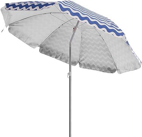 Sombrilla Playa Parasol Azul poliéster de Ø 180 cm - LOLAhome: Amazon.es: Hogar