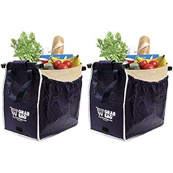 Amazon.com: Insulated Reusable Grab Bag Grocery Shopping Tote ...