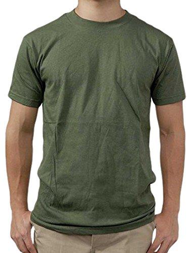変成器リムナイロンUS.SOFFE.OD.Tシャツ (T41N)グリーン無地、ワッペン付