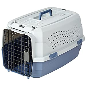 AmazonBasics 23-Inch Two-Door Top-Load Pet Kennel