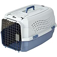 AmazonBasics Top-Load Pet Travel Kennel Carrier Crate For Cats Or Dogs - 13 x 15 x 23 Inches