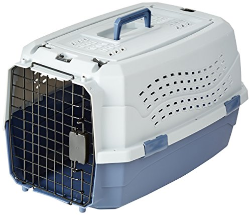 AmazonBasics Top-Load Pet Travel Kennel Carrier Crate For Cats Or Dogs - 13 x 15 x 23 Inches from AmazonBasics