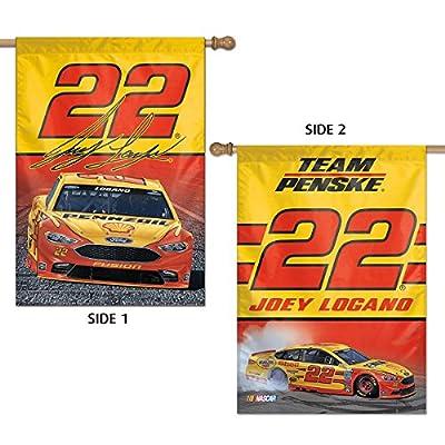Joey Logano 2 Sided Banner Flag NASCAR Vertical House
