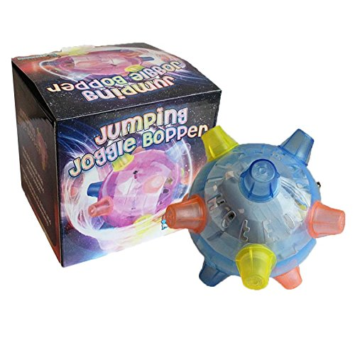 Jumping Joggle Bopper. Sound Sensitive Vibrating Powered Ball Game by The Discovery Store