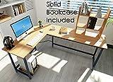 Modern L-Shaped Desk Corner Gaming Computer Desk PC Latop Study Table Workstation Home Office (Walnut)
