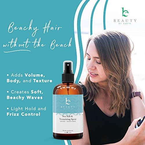 Sea Salt Spray for Hair - Texturizing Spray Hair Products, Hair Spray With Organic Aloe Vera, Beach Waves Spray, Sea Salt Spray, Texture Spray, Volumizing Spray Hair Products for Women, Hairspray 6oz