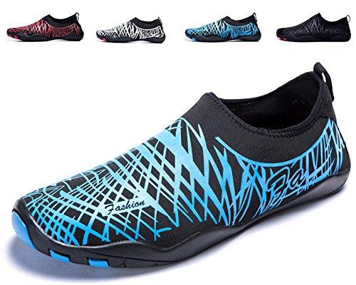 Color Azuljy Zapatos Agua Rápido Zapatos LeKuni de Soles de de Calzado Secado Playa Piscina de Unisex de Natación Respirable Agua 6OSqH