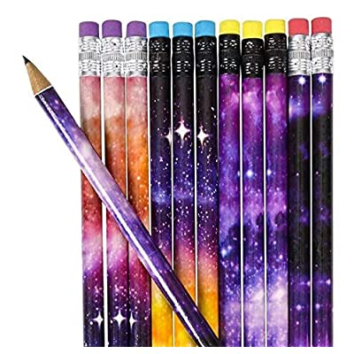 Rhode Island Novelty 7.5 Inch Galaxy Pencils 4 Dozen Per Order: Toys & Games