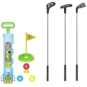 JIALI - Juego de Juguetes de Golf para niños, Mini Juego de ...