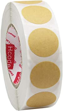 """2 boxed rolls of 500 white 3//4/"""" Round Self Adhesive Target Pasters"""