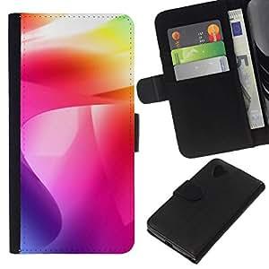 NEECELL GIFT forCITY // Billetera de cuero Caso Cubierta de protección Carcasa / Leather Wallet Case for LG Nexus 5 D820 D821 // Color de los remolinos