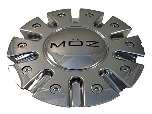 Moz Wheels 7770-15 Chrome Custom Wheel Center Caps (Set of 4) (Moz Wheels)
