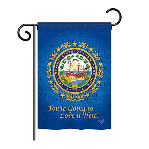 Breeze Decor G158145 New Hampshire Americana States Impressions Decorative Vertical Garden Flag 13