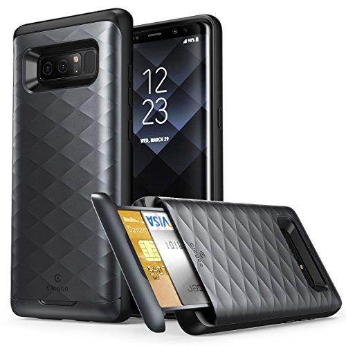Galaxy Note 8 Case, Clayco [Argos Series] Premium Hybrid Protective Wallet Case for Samsung Galaxy Note 8 (Built-in Credit Card/ID Card Slot)