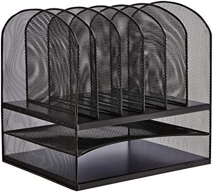Wei/ß Safco Products 3254WH Onyx-Netz-Organizer mit 3 vertikalen 3 horizontalen F/ächern