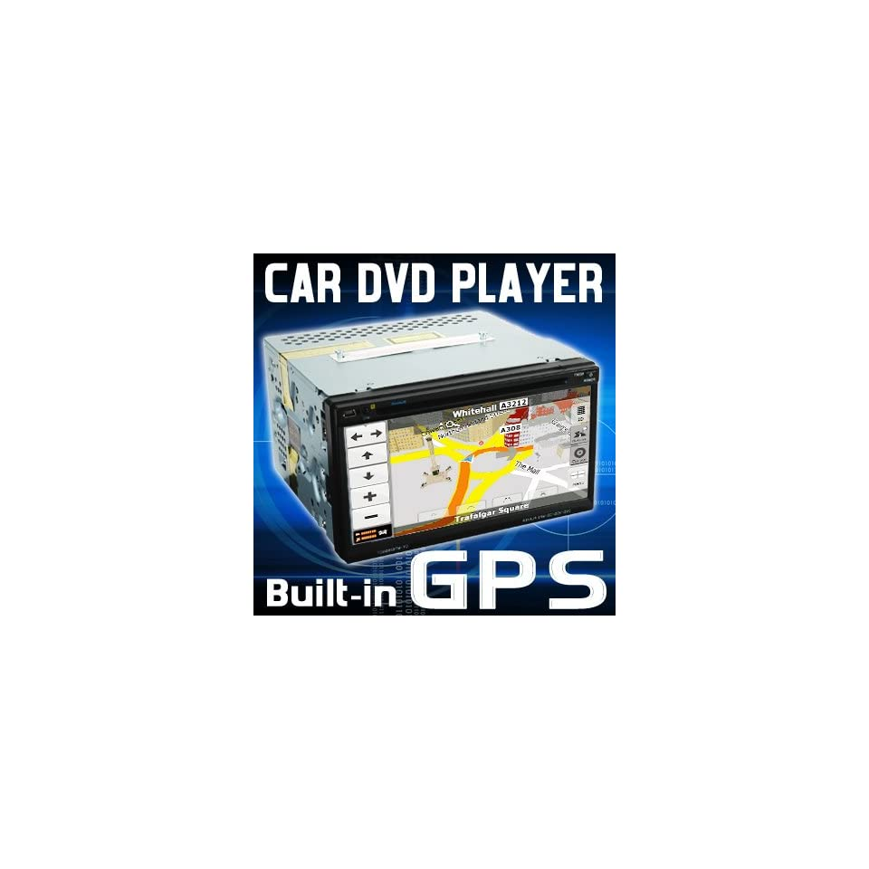 7 TFT LCD IN DASH DOUBLE DIN CAR DVD PLAYER w/ GPS NAV US