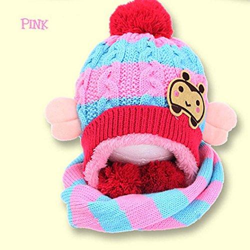 Bonnet Bebe, Tpulling Bébé filles garçons hiver chapeau écharpe laine  foulards (Beige)  Amazon.fr  Vêtements et accessoires d3800540581