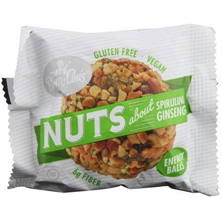 Betty Lous 1540509 Nut Butter Balls - Spirulina Ginseng - 1.4 oz - 40 ct - 1 - Spirulina Ginseng Balls