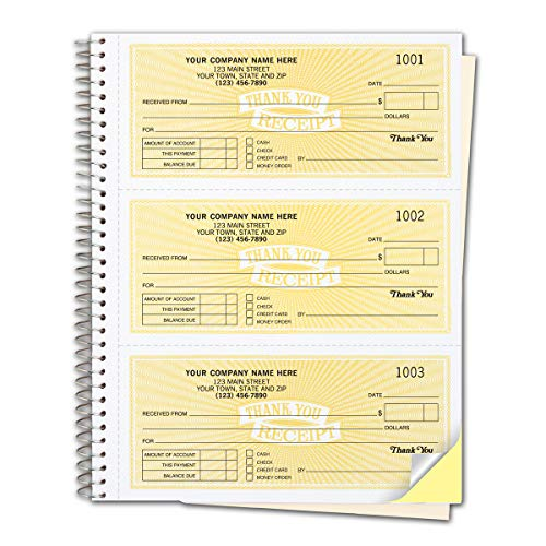 Our best-selling 3-to-a-page receipt books make it easy to write up & record cash payments! Customers get a clean, professional receipt while you get a permanent duplicate securely bound in a wire-bound desk book. Get the details. Receipt form fe...