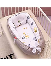 Babybo, spädbarn sovande nyfödd baby liggkorg myssäng bo, 100 % bomull andningsbar mjuk bärbar spjälsäng madrass för sovrum resor