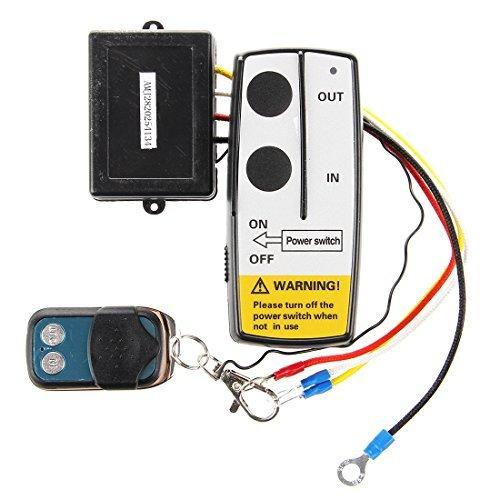 TOOGOO(R) 3 Wireless Winch Remote Control Kit 12V for Truck Jeep SUV ATV