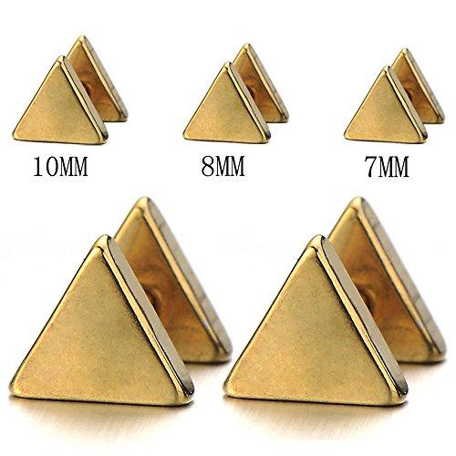 Unisex Stainless Steel Triangle Earrings