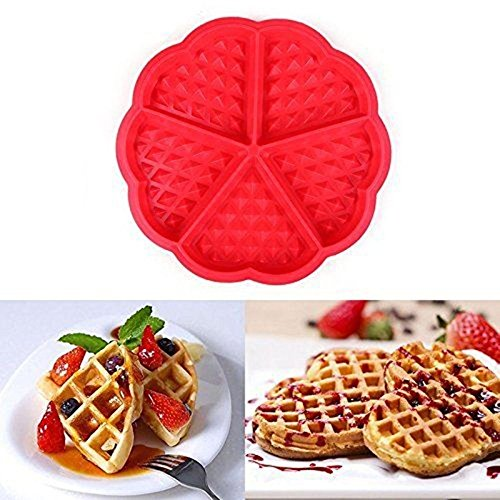 Silicone Plum Blossom Waffles Mould Muffin Pans Baking Cake Tray